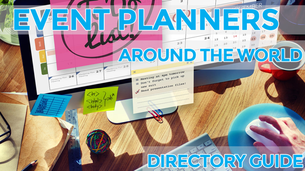event planner list around the world